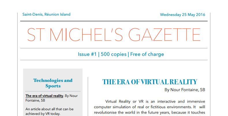 St Michel's Gazette